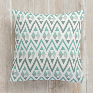 Tribal Triangle Self-Launch Square Pillows