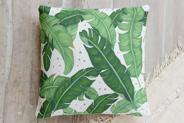 banana leaves pillow by Four Wet Feet Studio | Minted
