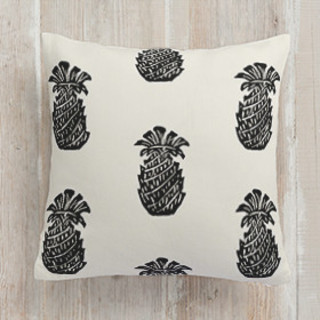 Block Print Pineapple Self-Launch Square Pillows
