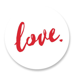 Love with your heart Selflaunch Non-Custom Stickers