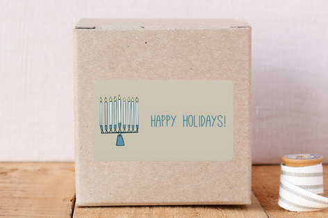 Rustic Holiday Menorah Stickers