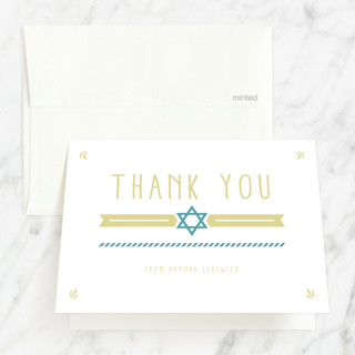 Illustrated Mitzvah Mitzvah Thank You Cards