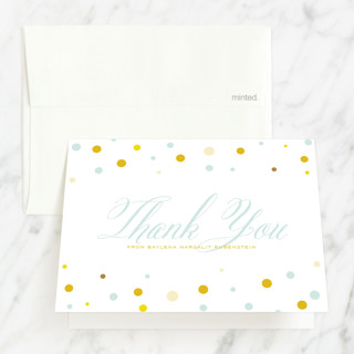 Sweet And Solemn Mitzvah Thank You Cards