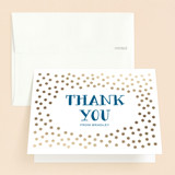 Foil-Pressed Mitzvah Thank You Cards