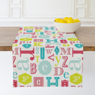 Eclectic ABCs Self-Launch Table runners