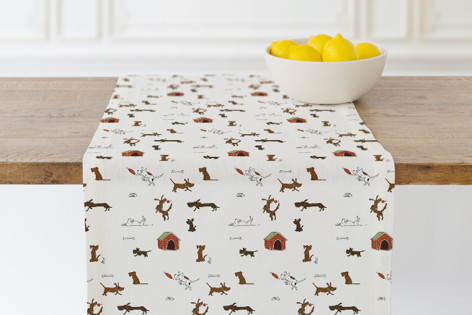 Doggy antics Self Launch Table runners