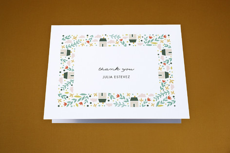 Little Village Moving Announcements Thank You Cards