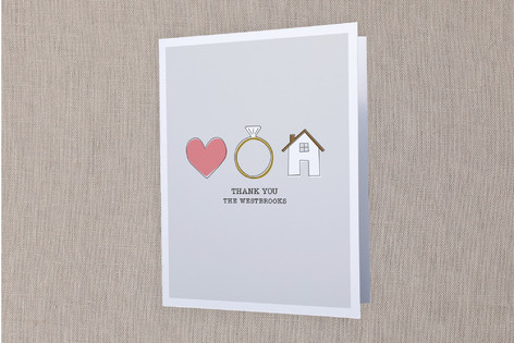 Love, Marriage, House Moving Announcements Thank You Cards
