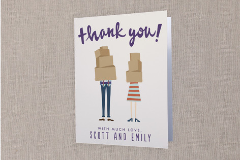 Our First Home Moving Announcements Thank You Cards