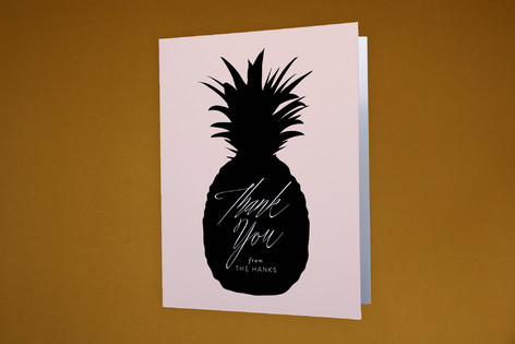 Big Pineapple Moving Announcements Thank You Cards