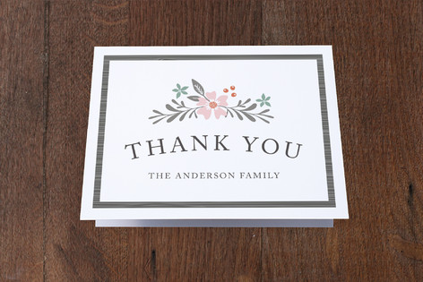 Floral Placard Moving Announcements Thank You Cards