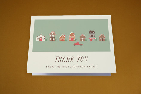Our New Town Moving Announcements Thank You Cards