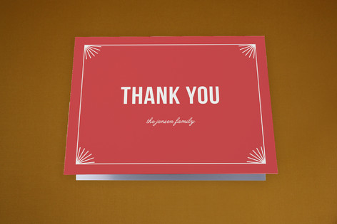 Vintage Stamp Moving Announcements Thank You Cards