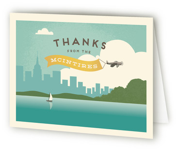 Vintage Journey Moving Announcements Thank You Cards