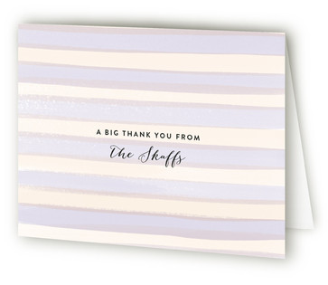 Watercolor Snapshot Moving Announcements Thank You Cards