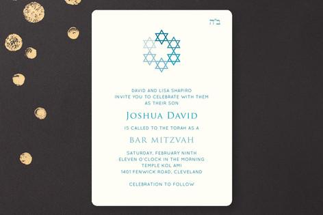 David's Stars Mitzvah Invitations