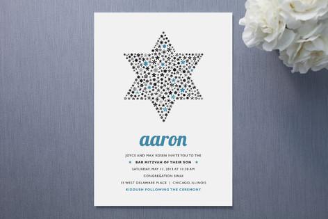 Mitzvah Star Mitzvah Invitations