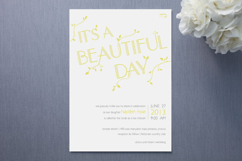 Beautiful Day Mitzvah Invitations