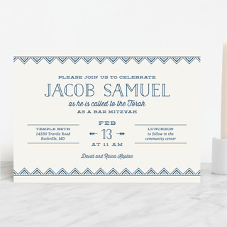 Sharp Mitzvah Invitations