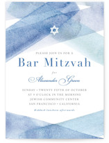 watercolor stripes Mitzvah Invitations by Four Wet Minted