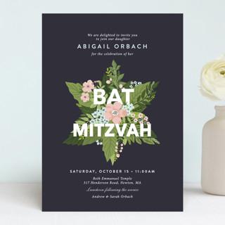 Botanical Mitzvah Mitzvah Invitations