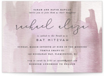 This is a pink bar mitzvah bat mitzvah invitation by Creo Study called Celebratory with standard printing on signature in standard.