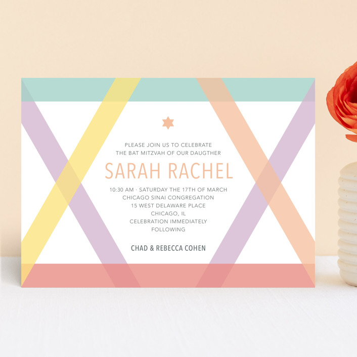 Washi Tape Mitzvah Invitations