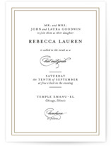 This is a black bar mitzvah bat mitzvah invitation by Kimberly FitzSimons called Eloquence with standard printing on signature in standard.