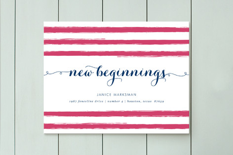 new beginnings moving announcements by fig and cot minted