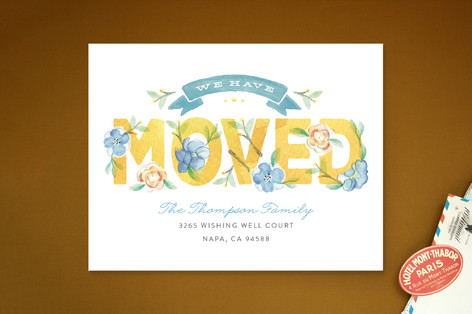 Blooming Moving Announcements