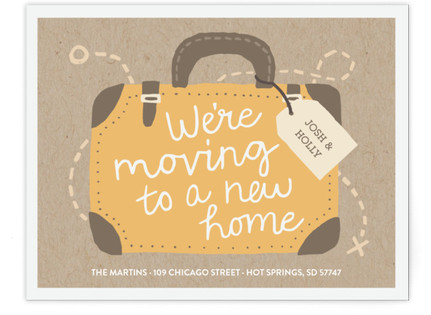 Traveling to a New Home Moving Announcements