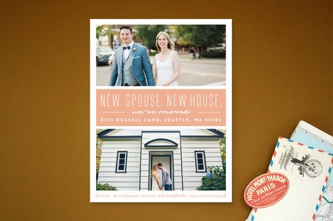 New Spouse, New House Moving Announcements