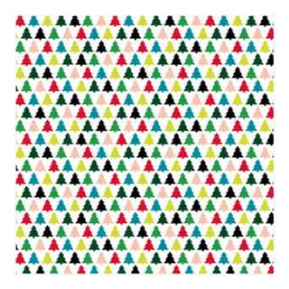 Moderne Christmas Trees Self-Launch Wrapping Paper