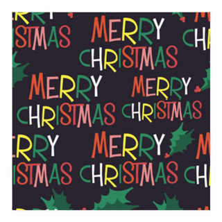 Holly Jolly Merry Christmas Self-Launch Wrapping Paper