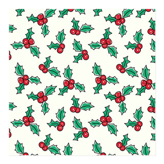 Holly Jolly Christmas Self-Launch Wrapping Paper