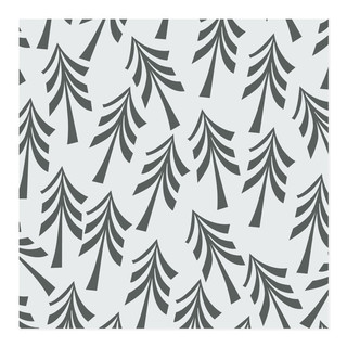 Grey retro trees Self-Launch Wrapping Paper