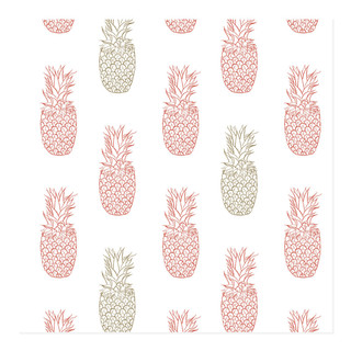 hand drawn pineapples Self-Launch Wrapping Paper