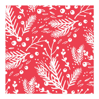 Festive Evergreen Self-Launch Wrapping Paper