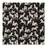 A Dazzle of Zebras- black Wrapping Paper