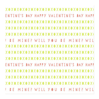 xoxo valentine Self-Launch Wrapping Paper