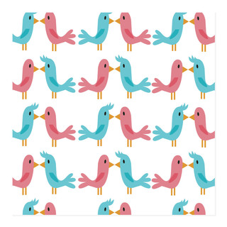 Bird Love Self-Launch Wrapping Paper