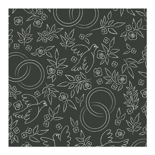 Doves Rings Self-Launch Wrapping Paper