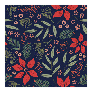 Winter Floral Self-Launch Wrapping Paper