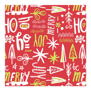 Be Merry Holiday Joy Self-Launch Wrapping Paper