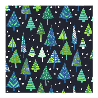 Christmas Tree Field Self-Launch Wrapping Paper