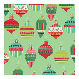 Funky Christmas Ornaments Wrap Self-Launch Wrapping Paper