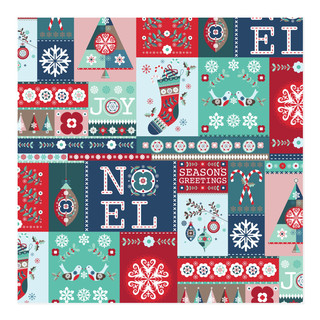 Holiday Quilt Wrap Self-Launch Wrapping Paper