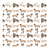 Doxie Wrapping Paper by Lauren Rogoff