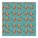 Rooster Wrapping Paper by Lauren Rogoff