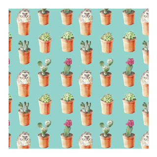 Hedgehog and cactus wrapping paper Self-Launch Wrapping Paper